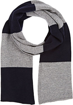 Barneys New York MEN'S STRIPED WOOL-CASHMERE SCARF