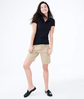 Aeropostale Curvy Solid Bermuda Uniform Shorts***