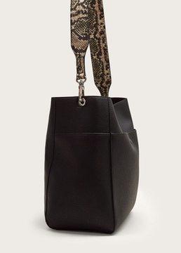 Violeta BY MANGO Monochrome snake-effect bag
