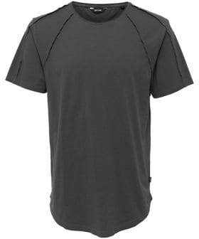 ONLY & SONS Long Detailed Fitted Cotton Tee