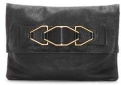 Vince Camuto Luk Leather Foldover Convertible Clutch