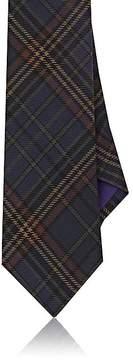 Ralph Lauren Purple Label Men's Plaid Mulberry Silk Twill Necktie