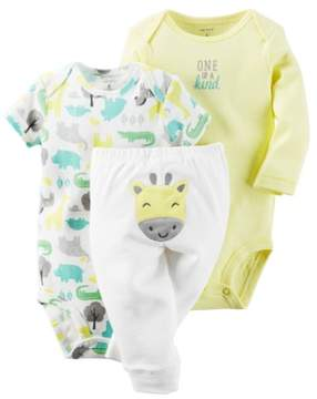 Carter's Unisex Baby Clothing Outfit 3-Piece Little Character Set Safari Giraffe, Yellow, 24M