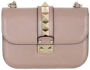 Valentino Small Lock Rockstud Leather Bag