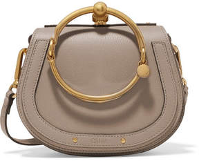 Chloé Nile Small Textured-leather Shoulder Bag - Gray