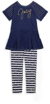 Juicy Couture Little Girl's Two-Piece Peplum Top and Leggings Set