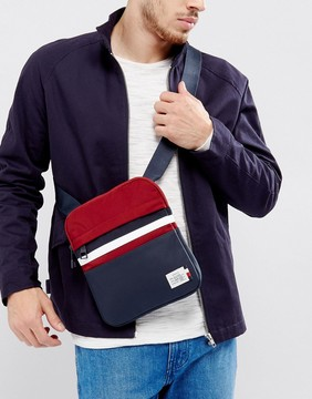 Tommy Hilfiger Icon Stripe Flight Bag in Navy