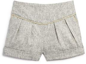 Bardot Junior Girls' Pleated Shorts with Metallic Trim - Baby