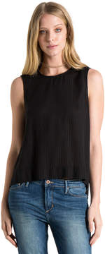 Bella Dahl Button Shoulder Tank-Black-XS