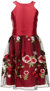 Xtraordinary Big Girls 7-16 Embroidered Mesh Dress