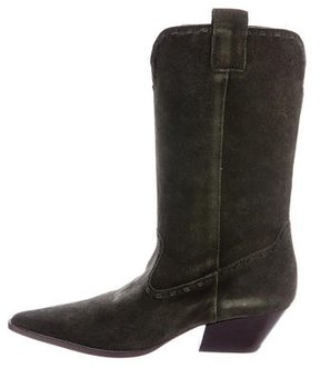 Michael Kors Suede Pointed-Toe Cowboy Boots