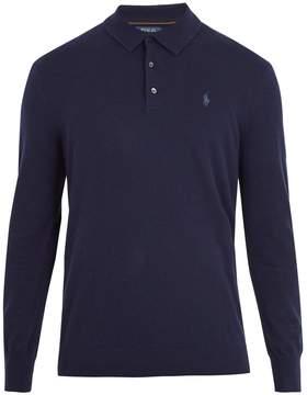 Polo Ralph Lauren Half-button logo-embroidered cashmere sweater