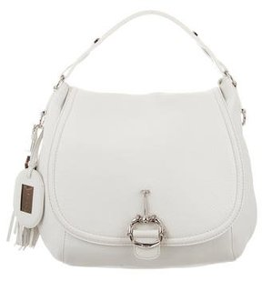 Gucci Large Techno Horsebit Bag - WHITE - STYLE
