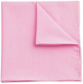 Charles Tyrwhitt Pink Classic Fine Gingham Cotton Pocket Square