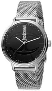 Just Cavalli Mens Stainless Steel Watch With Black Dial.