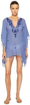 Letarte Embroidered Poncho Women's Swimwear