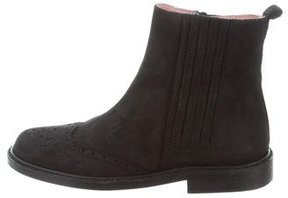 Jacadi Girls' Suede Perforated Boots