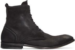 H By Hudson Black Nubuck Swathmore Boots