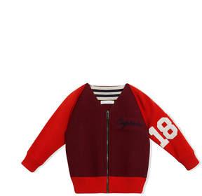 Burberry Merino Wool and Cotton Baseball Jacket