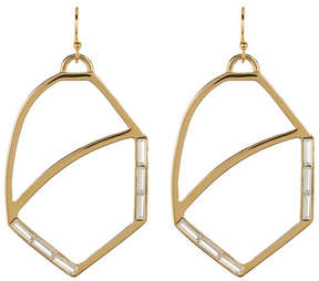 Botkier Crystal Accented Cutout Oval Drop Earrings