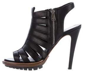 Belstaff Leather Platform Cage Sandals