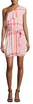 Collective Concepts Printed One-Shoulder Mini Dress
