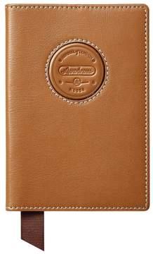 Aspinal of London Aerodrome Passport Cover In Dark Brown Pebble