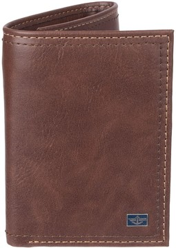 Dockers Men's RFID-Blocking Trifold Wallet With Zipper Pocket