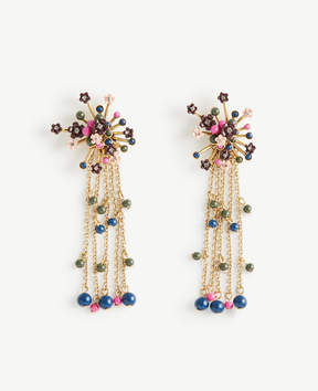 Ann Taylor Flower Burst Statement Earrings