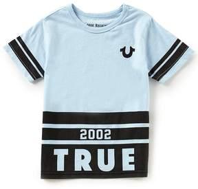 True Religion Little Boys 2T-7 Long Branded Logo Tee