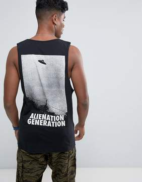 Antioch Alienation Back Print Tank with Scoop Armhole