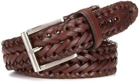 Roundtree & Yorke Big & Tall V-Braided Leather Belt