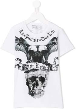 Philipp Plein Junior skull and eagle print T-shirt