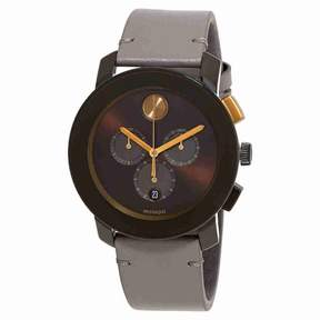 Movado Bold Brown Sunray Dial Men's Chronograph Watch 3600445