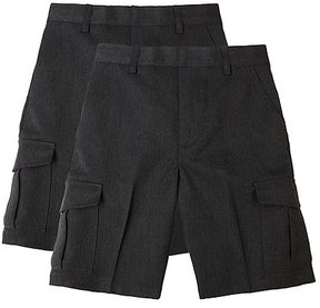 Marks and Spencer 2 Pack Boys' Regular Leg Cargo Shorts