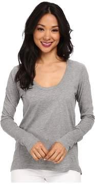 Alternative Scoop Neck T-Shirt Long Sleeve Women's T Shirt
