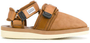 Suicoke touch fastening shearling sandals