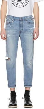 Diesel Blue D-Jiffe-Z Distressed Jeans