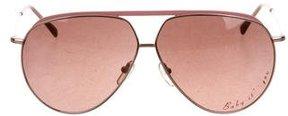 Stella McCartney Metallic Aviator Sunglasses