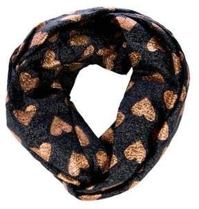 Gucci 2017 Lucina Metallic Heart Headband