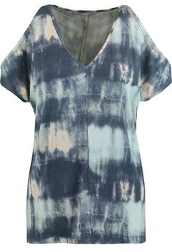 Tart Collections Rocky Cold-Shoulder Tie-Dye Stretch-Modal Top