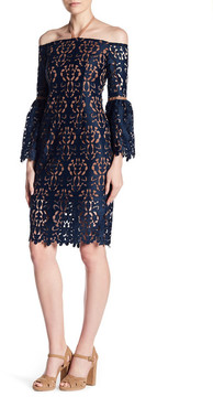 Alexia Admor Off-the-Shoulder Lace Knit Dress