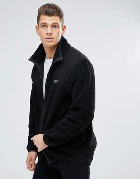 Nicce London track jacket in borg