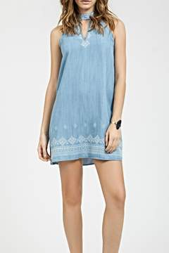 Blu Pepper Embroidered Denim Dress