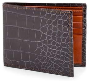 Bosca Men's Embossed Bifold Wallet - Brown