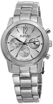 August Steiner Womens Silver Tone Strap Watch-As-8087ss
