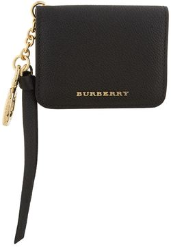 Burberry Camberwell Card Case and Charm - BLACK - STYLE