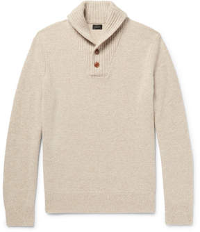 J.Crew Shawl-Collar Mélange Wool Sweater