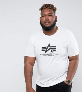 Alpha Industries PLUS Logo T-Shirt Regular Fit in White