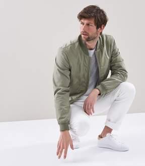 Reiss Erba Garment Dyed Bomber Jacket